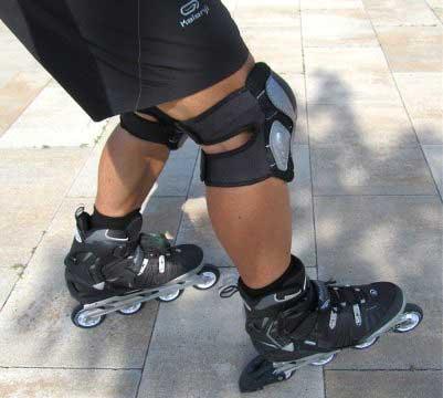 Frenar rápido con tacos patines en línea
